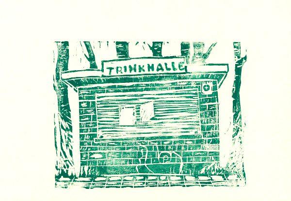 Trinkhalle grün